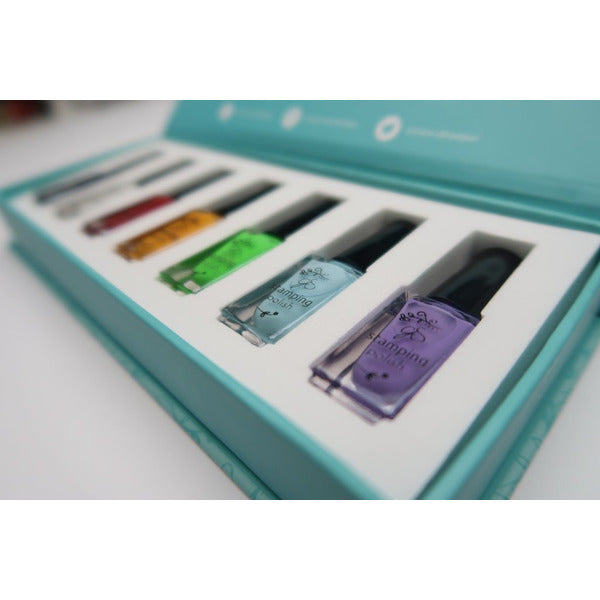 Clear Jelly Stamper Polish Kit - Starter (7 Colours)