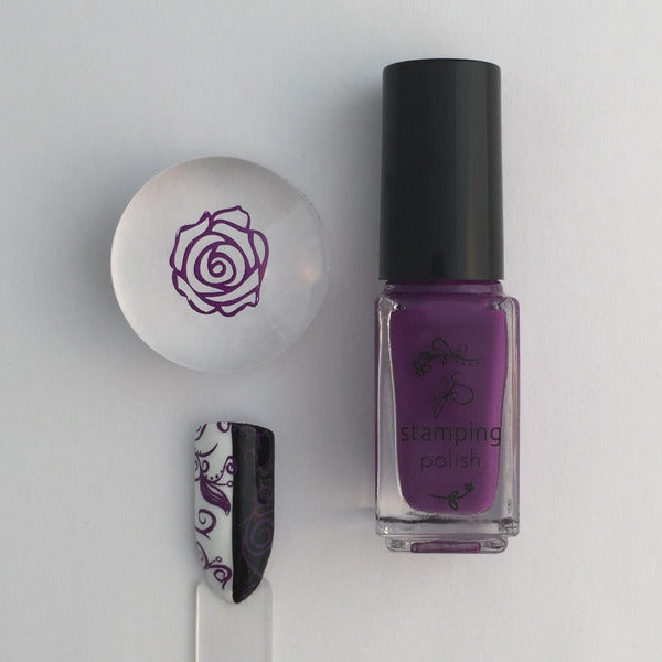 Clear Jelly Stamper Polish - #16 Shiraz