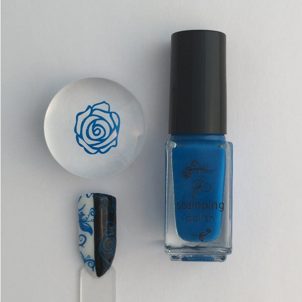 Clear Jelly Stamper Polish - #10 Gotta Be Blue