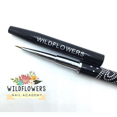 Wildflowers Brushes - Black Mini Brush