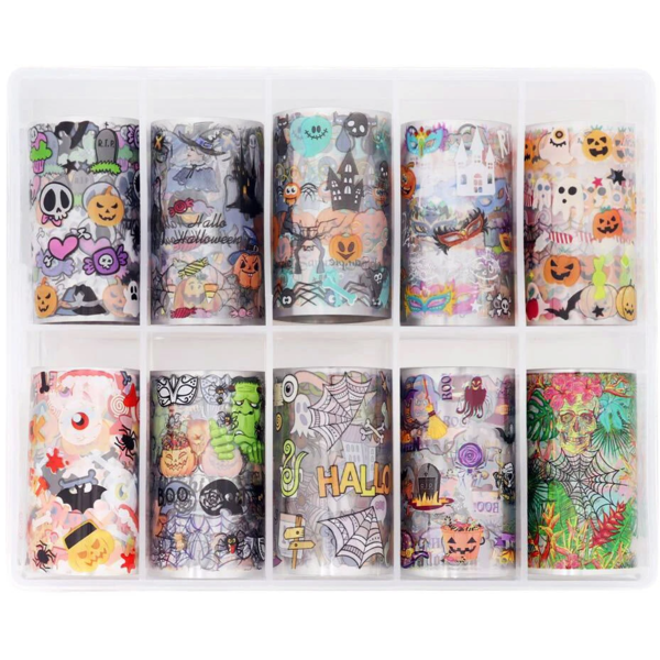 Daily Charme Nail Art Foil Paper Set - Halloween Parade
