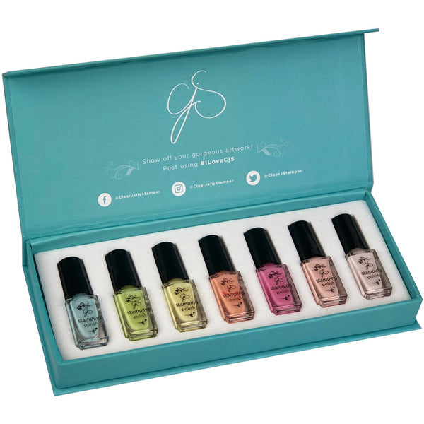 Clear Jelly Stamper Polish Kit - Pastel (7 Colours)