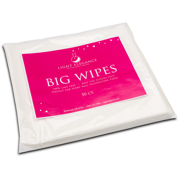 Light Elegance Lint Free Big Wipes 50ct