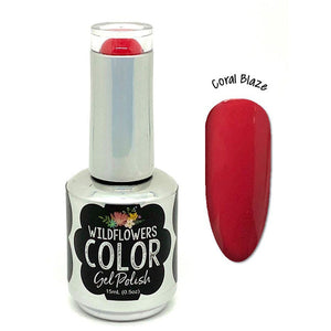 Wildflowers Gel Polish - Coral Blaze