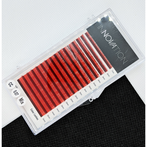 Innovation D-Curl Red Mixed Lash Tray - 0.07mm