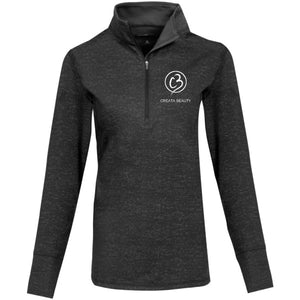 Creata Beauty Ladies Sport-Wick® Stretch Reflective Heather 1/2-Zip Pullover