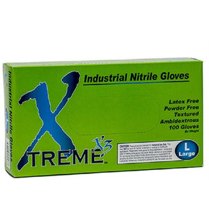 Xtreme X3 Blue Nitrile Gloves (4590580614)
