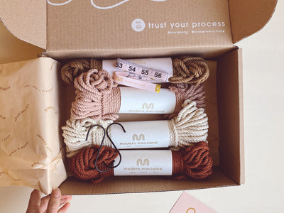 Modern Macramé Craft Club monthly subscription kit