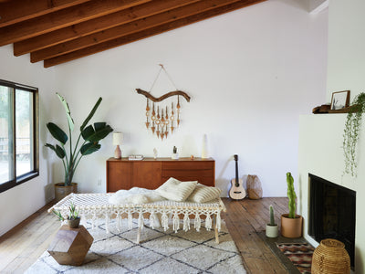 Macrame day bed Topanga canyon