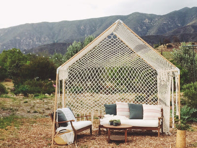 Macrame Tent for an Ojai Wedding