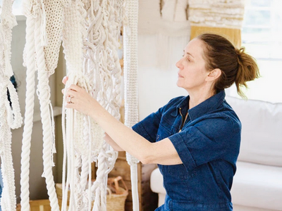 Tori Brogan, the Catskill Kiwi macrame and fiber artist