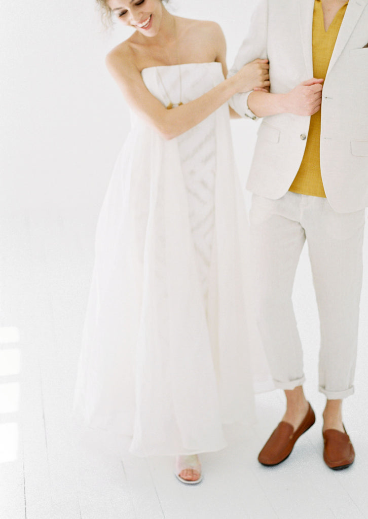 Intimate Wedding Photography for Bride and Groom at a macramé wedding