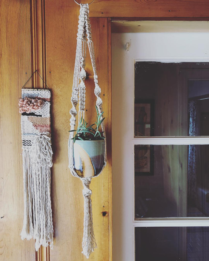 Projects made from the Modern Macrame Book