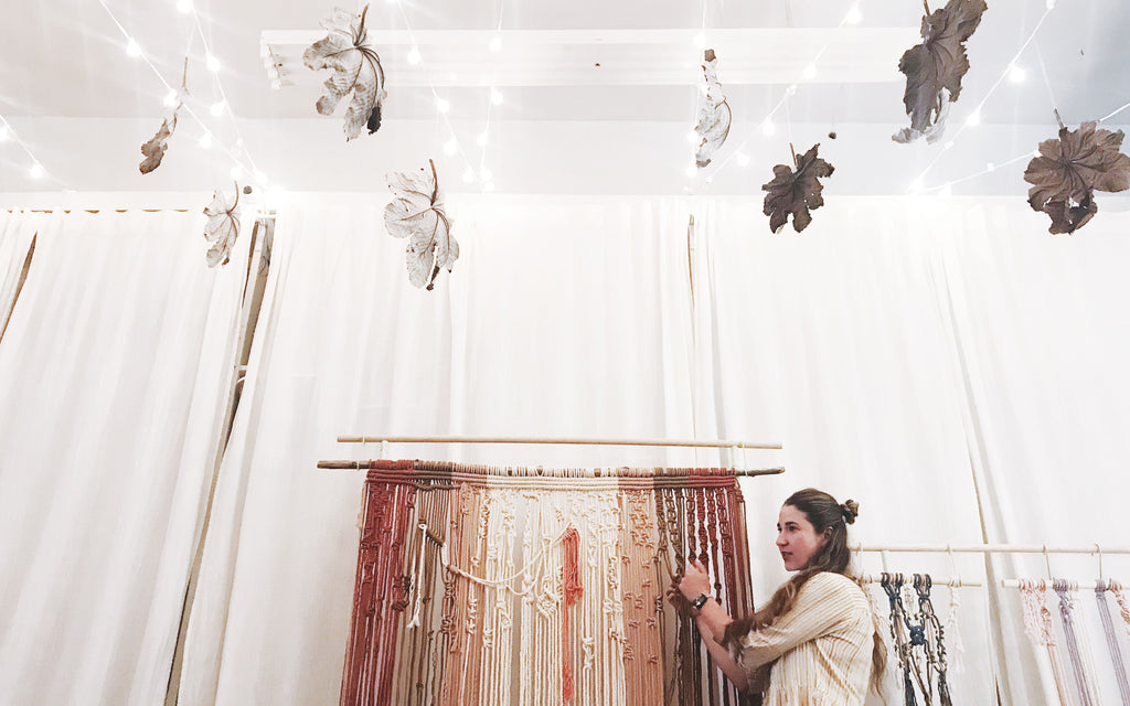 Emily Katz teaching Macrame in Philadelphia