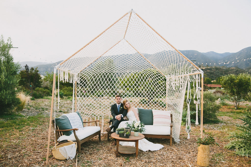macrame inspiration for boho weddings