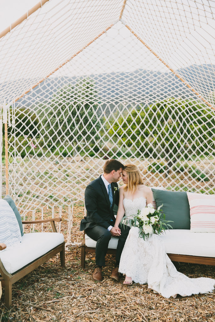 boho macrame wedding inspiration