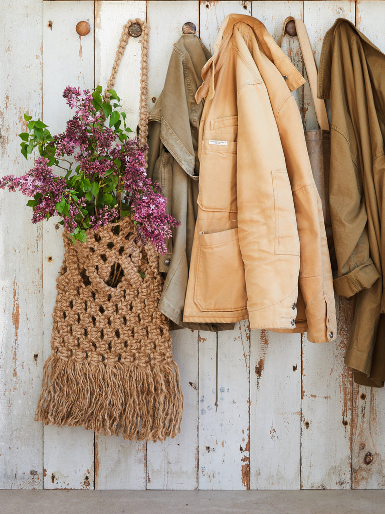 Modern Macrame Market Bag - Jute Rope - From Our Book Blog