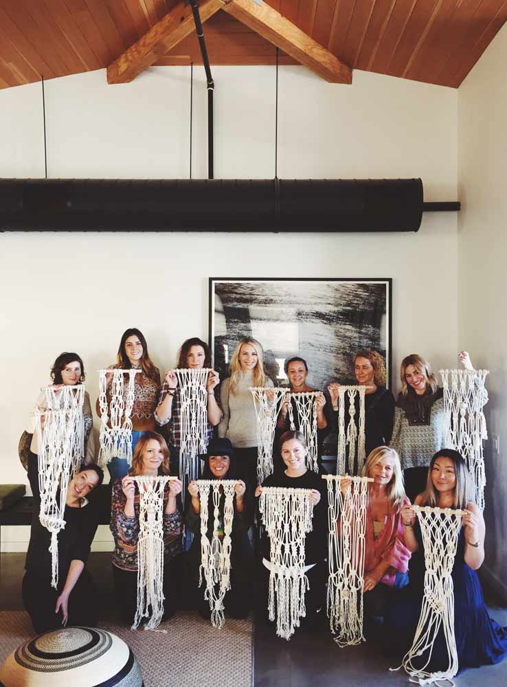 Parachute Home Macrame workshop