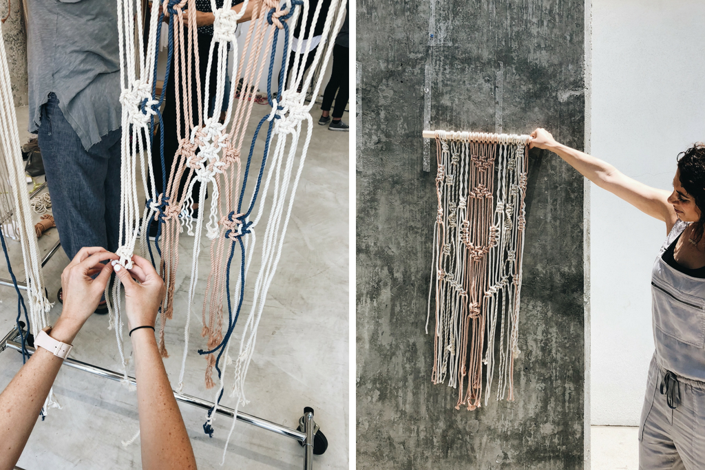 Modern Macramé Wall Hanging Workshop