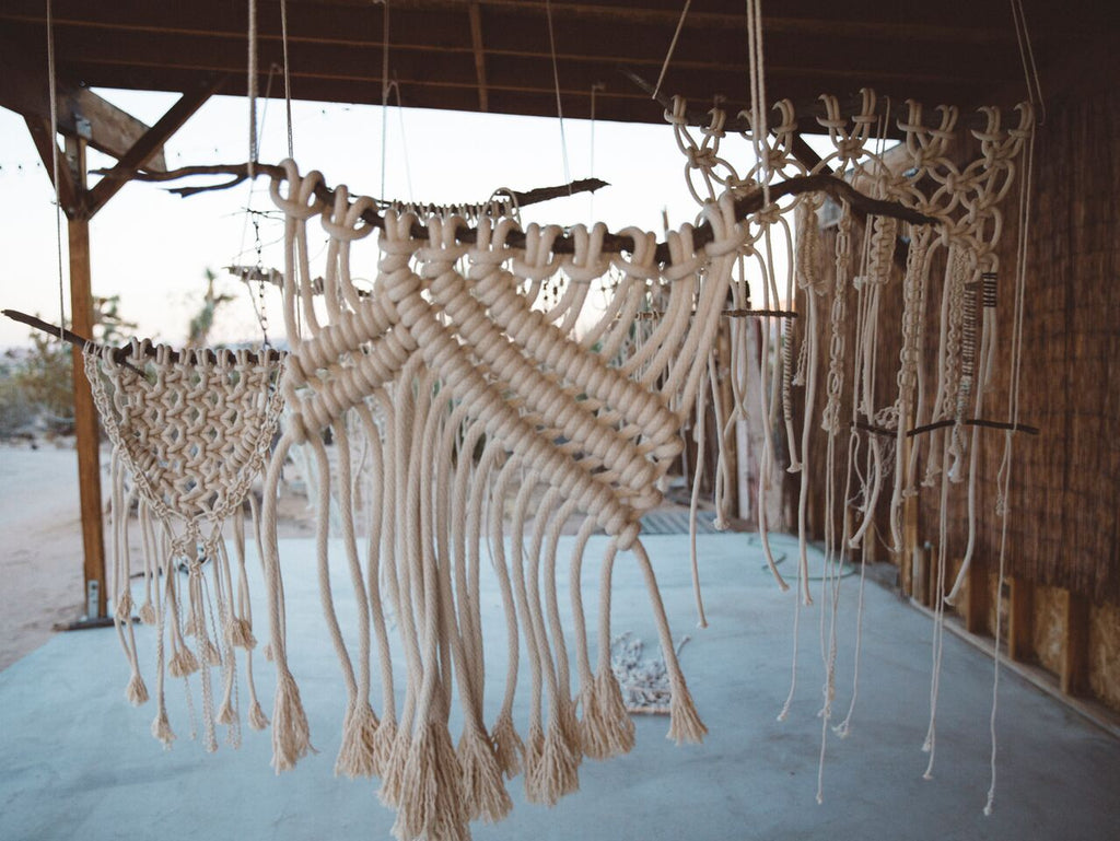 modern macrame retreat joshua tree