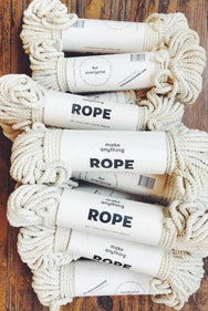 12 bundles of 5mm cotton rope for macramé workshops