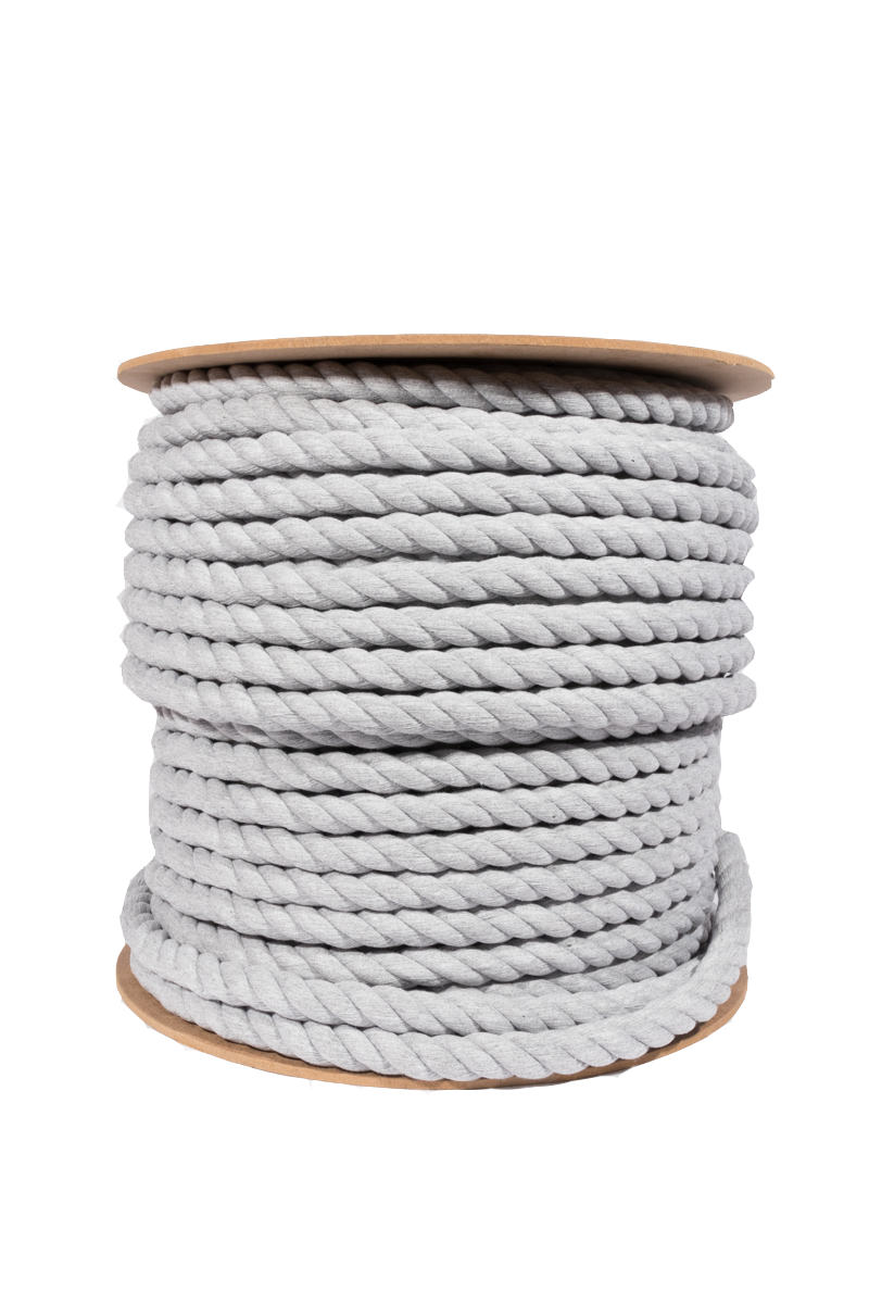 light gray 20mm cotton rope spool