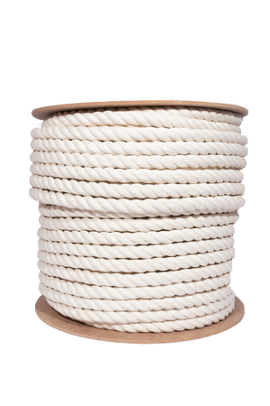 natural 20mm cotton rope spool 500' for artists and interior designers