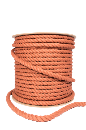 20mm or 1/2 inch cotton rope in copper