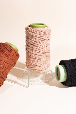 Peach, Copper, Black 3mm Cotton Rope Color Pack