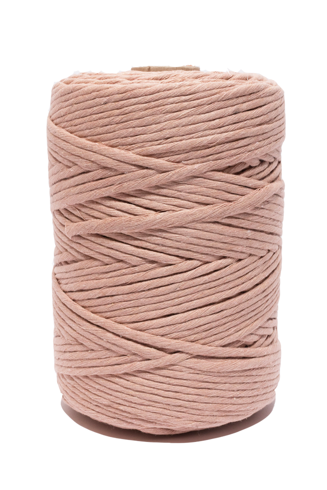 Peach 100% cotton cord for macrame and crafts