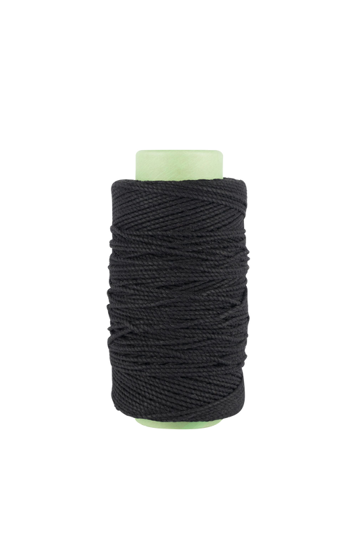 3mm 2 ply 100% cotton rope in Black