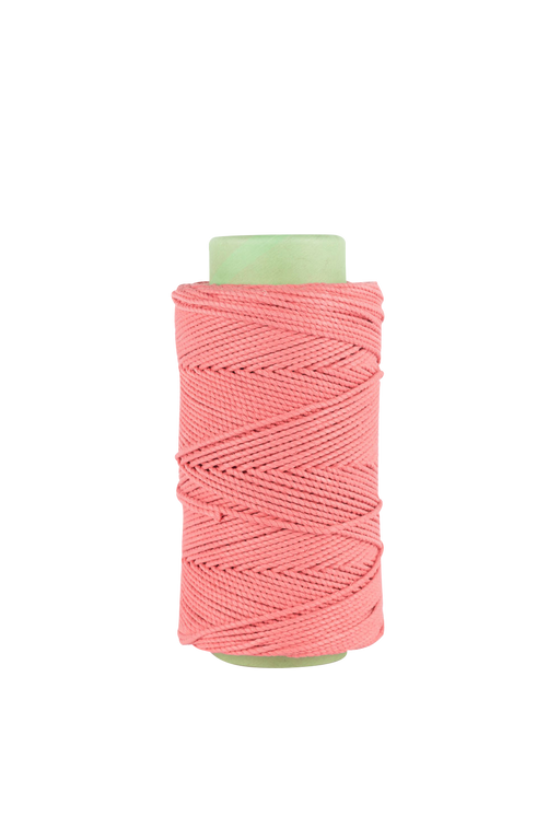 3mm 2 ply 100% cotton rope in coral