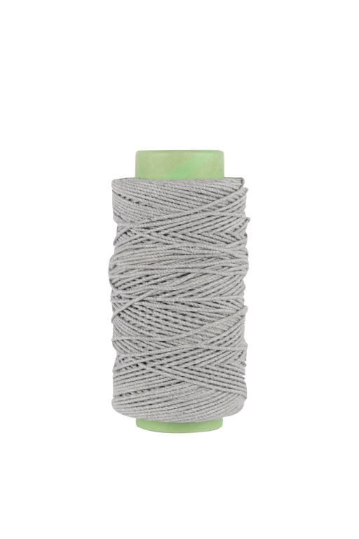 3mm 2 ply 100% cotton rope in light gray