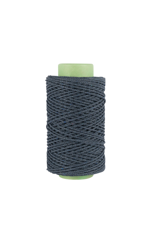 3mm 2 ply 100% cotton rope in Indigo