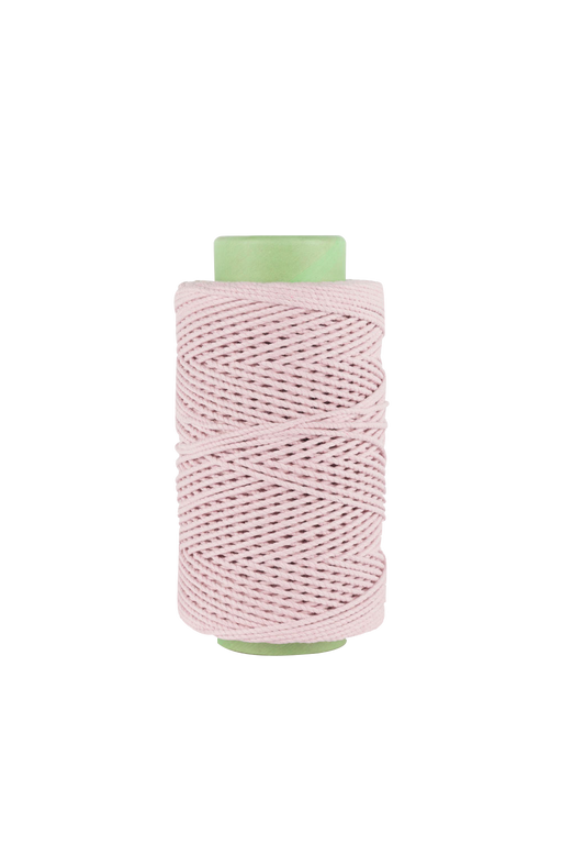 3mm 2 ply 100% cotton rope in light pink