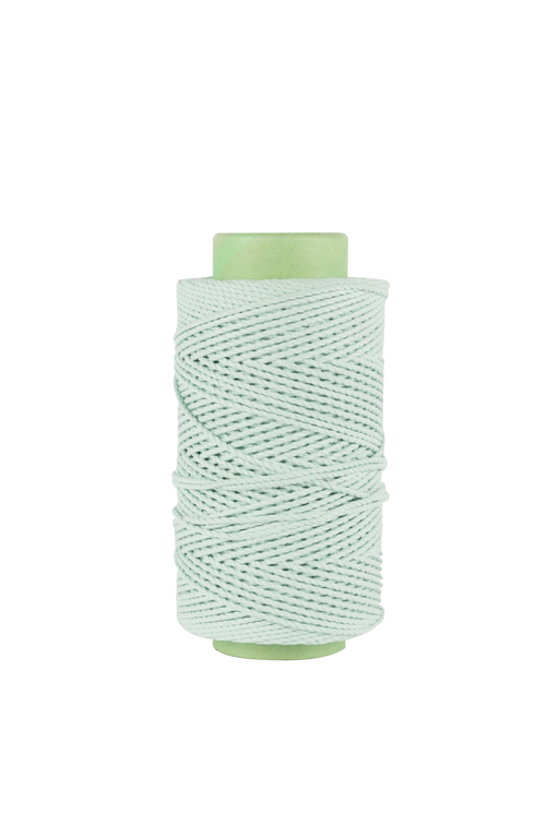 3mm 2 ply 100% cotton rope in Mint
