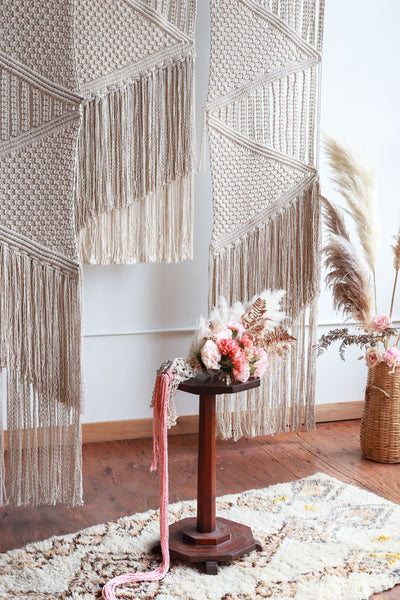 macrame backdrop pattern boho bride