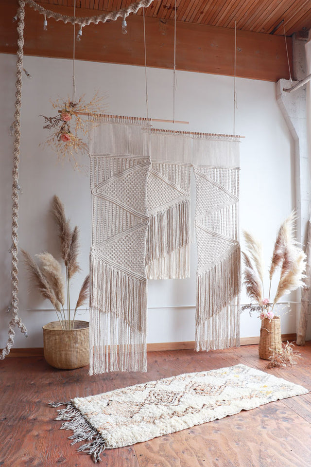 Boho Macramé wedding arbor