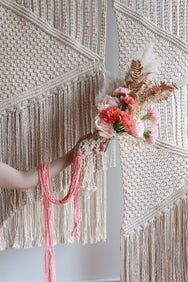macrame wedding bouquet
