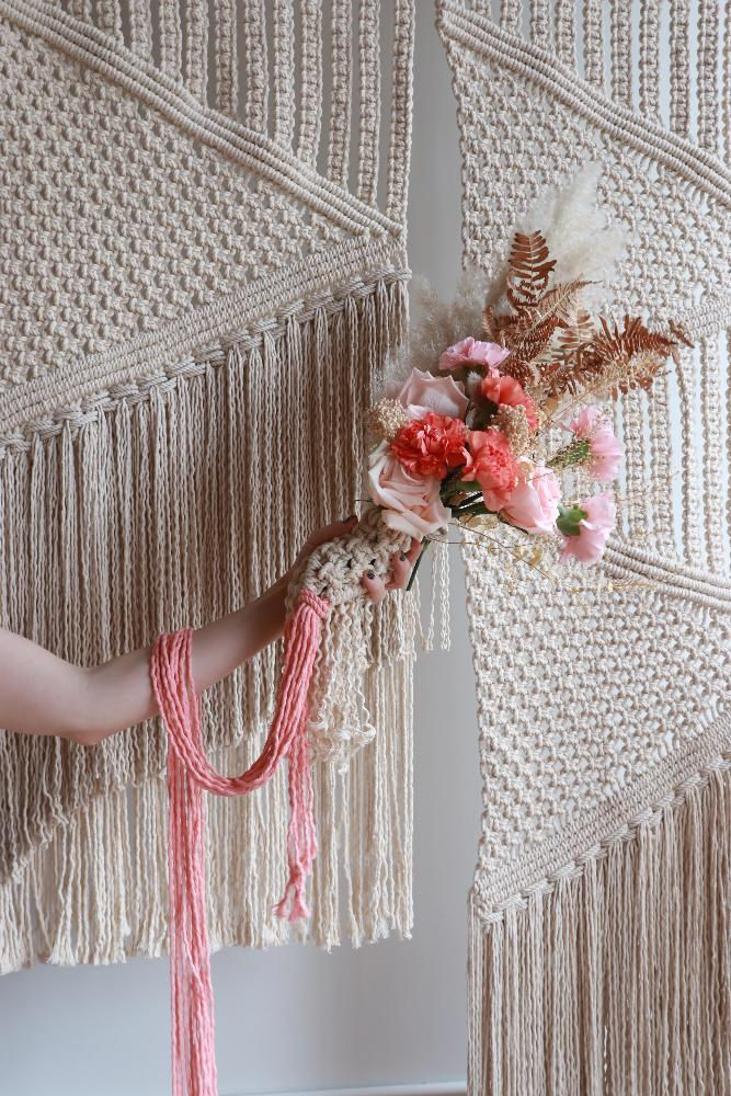 Macramé Wedding Bouquet wrap