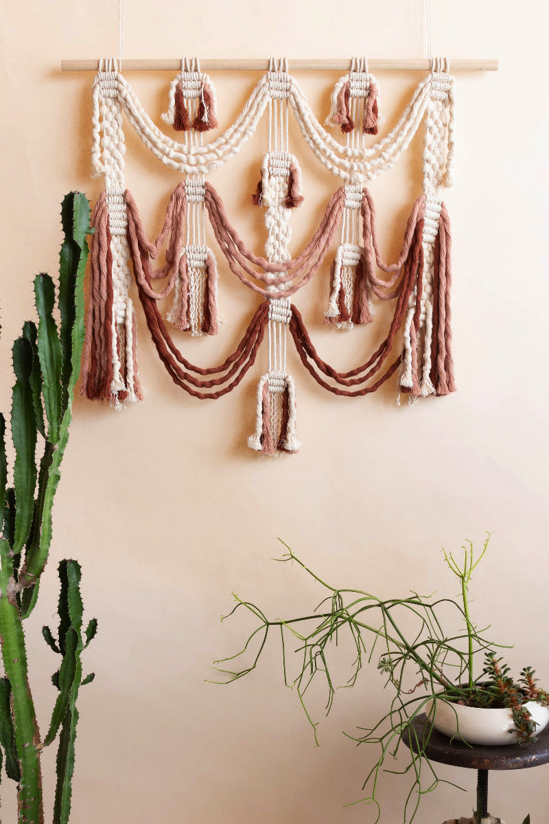 handmade macramé boho wall decor by Modern macrame