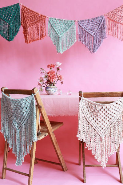 Macramé DIY pattern party decor