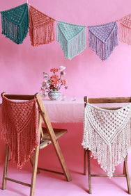 Modern Macramé celebration party patterns for wedding and kids birthdays