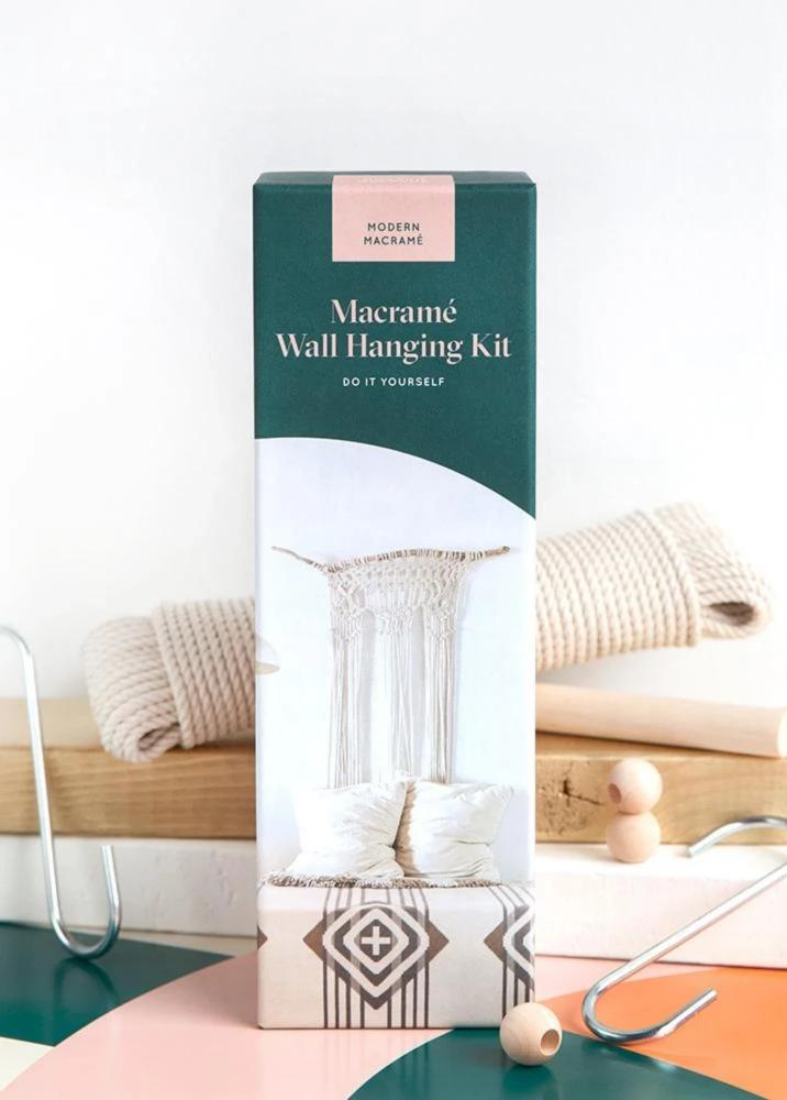 DIY modern macrame wall hanging kit