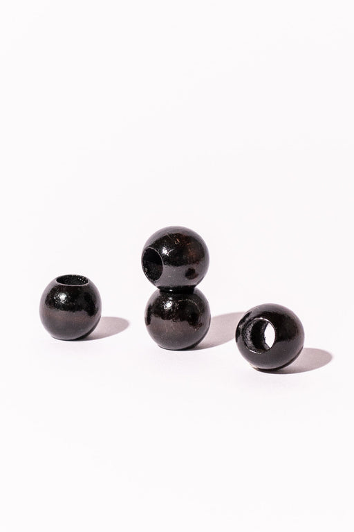 Dark Walnut Wood Beads Set of 4