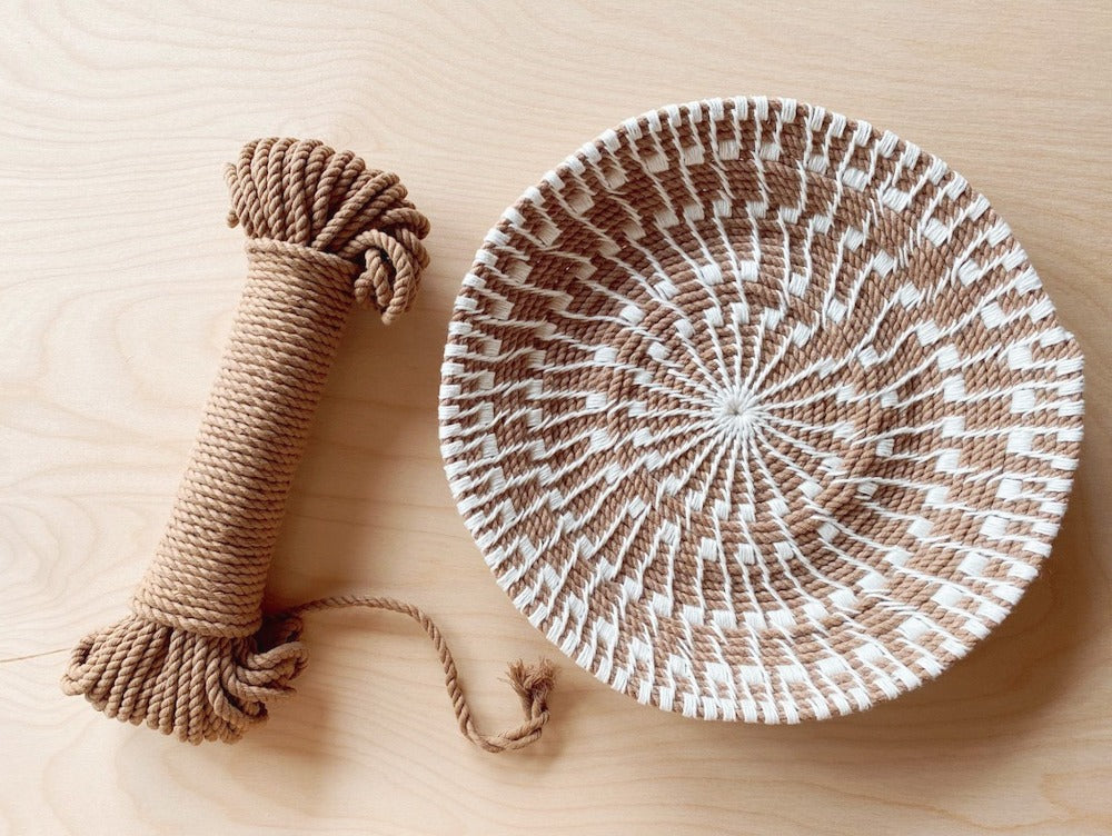 Sunburst Basket Kit with Wheat Rope