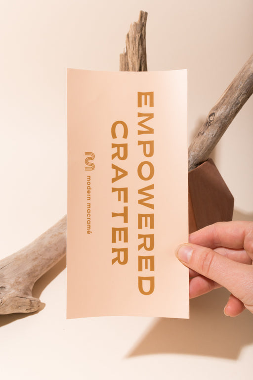 Empowered crafter bumper sticker