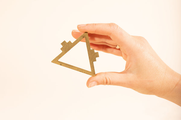 Brass Triangle Bead