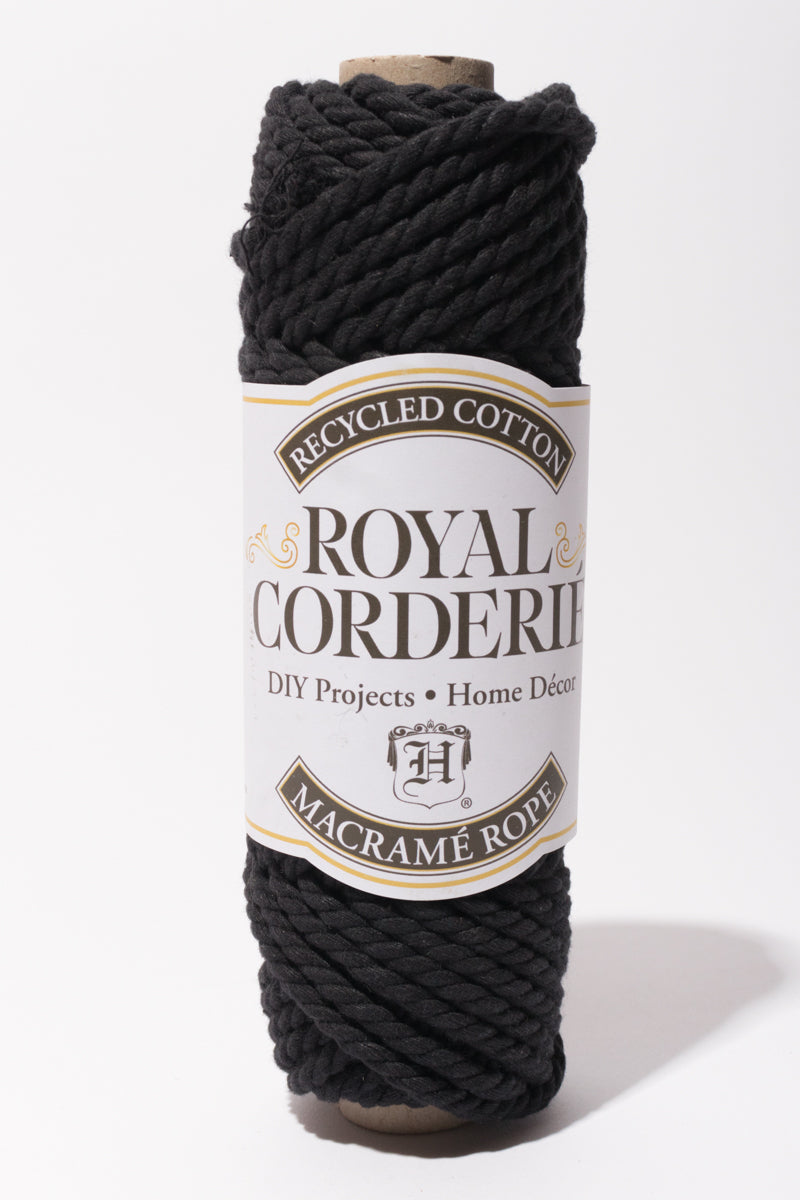 Black 6mm Recycled Cotton Rope 2ply