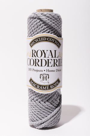 Light Gray 6mm Cotton Rope 2ply Recycled Cotton